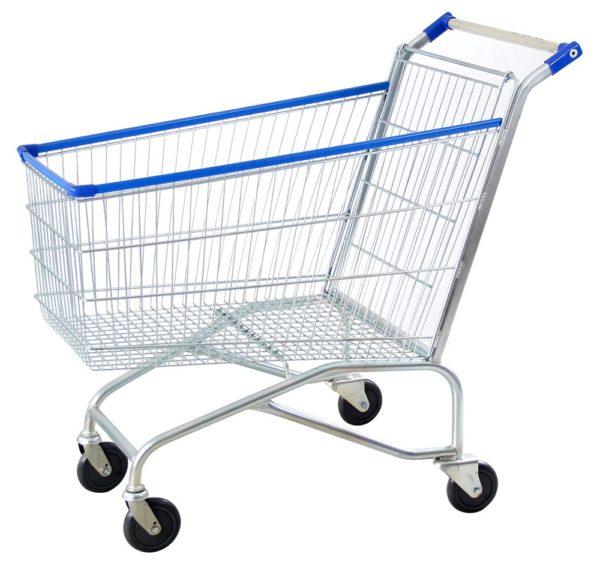 Carrinho simples para supermercado 210 litros