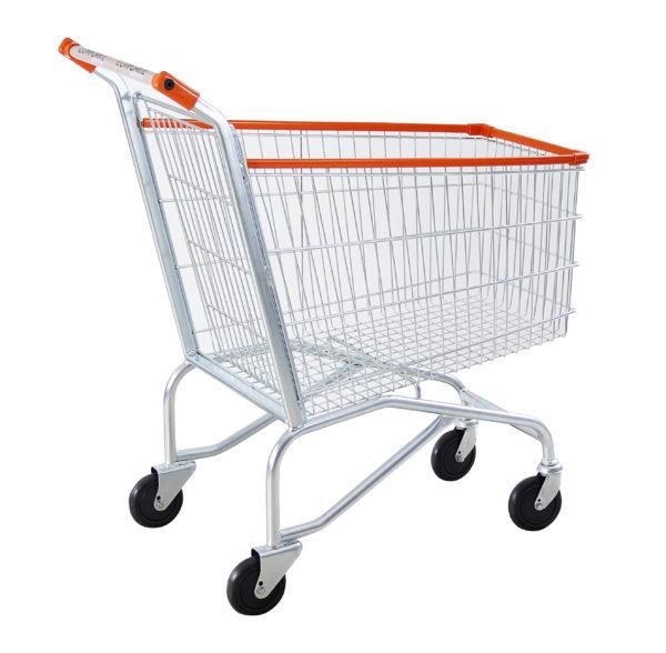 Carrinho simples para supermercado 160 litros